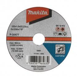 Makita Doorslijpschijf 125x1,6x22,23mm metaal