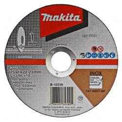 Makita Doorslijpschijf 125x1,0x22,23mm RVS