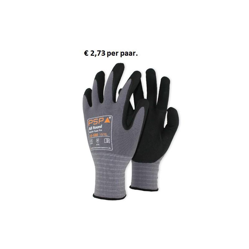Werkhandschoen Allround Nitrile Foam Plus 10-580