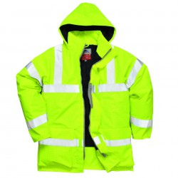 Parka, fluor geel high viz brandvertragende, anti statisch