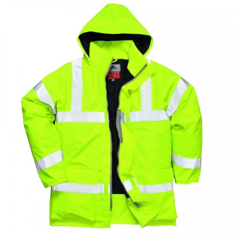 Portwest Bizflame Regen Hi-Vis Ademende en Antistatische FR Jack geel S778