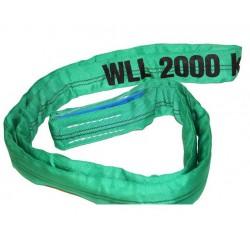 ELLERsling rondstrop 2t, 1meter, omtrek 2 meter groen