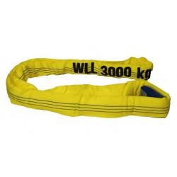 ELLERsling rondstrop 3t, 3meter, omtrek 6 meter geel